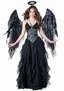 women39s dark angel costume With deguisement robe noire