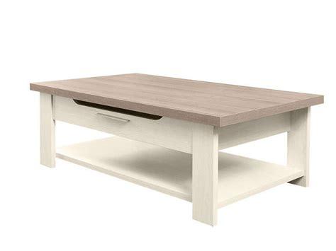 Table Basse Rectangulaire Toscane Coloris Chêne Gris Et