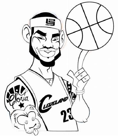 Lebron James Coloring Pages Dunking Kobe Bryant