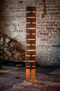 20 wooden diy lamp designs decorating ideas design for Diy led floor lamp