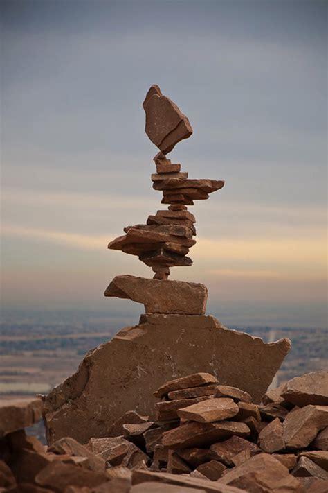 stone balance installations  michael grab