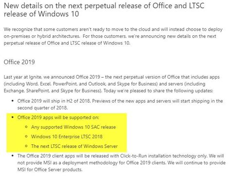 Office Version Numbers by Office 2019 Will Be Windows 10 Exclusive Ghacks Tech News