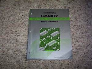 1993 Toyota Camry Electrical Wiring Diagram Manual Le Se