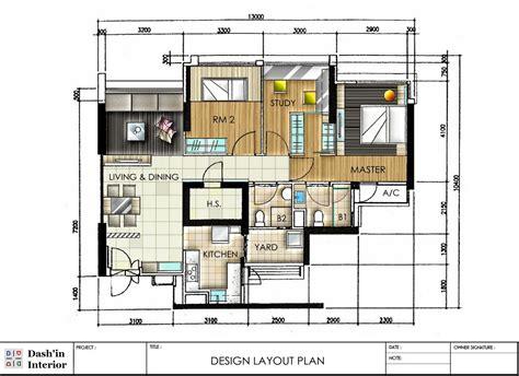 Dash'in Interior Hand Drawn Designs Floor Plan Layout