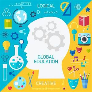 Global education background Vector | Free Download