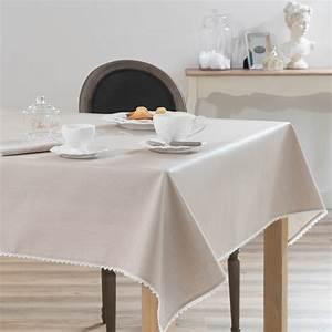 nappe enduite en coton beige 140 x 140 cm camille With nappes maison du monde