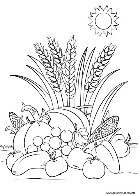 fall harvest autumn coloring pages printable