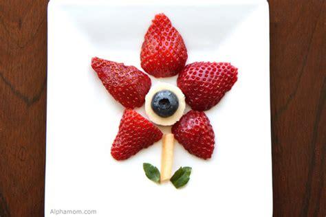 craft  snack easy fruit art alpha mom