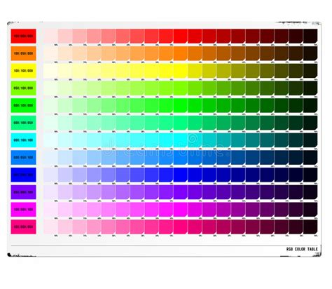 html color table rgb color table stock illustration illustration of