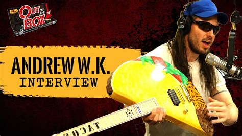 Andrew sent donald the music and asked if he would join his band. Interview: Andrew W.K. Shows Us His Taco Guitar, Eats Our ...
