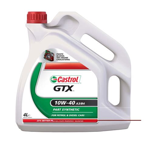 castrol gtx 10w40 castrol gtx 10w 40 a3b3 lubricants from fleet factors uk