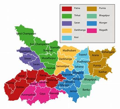 Bihar Divisions Svg District Administrative Wikipedia Commons