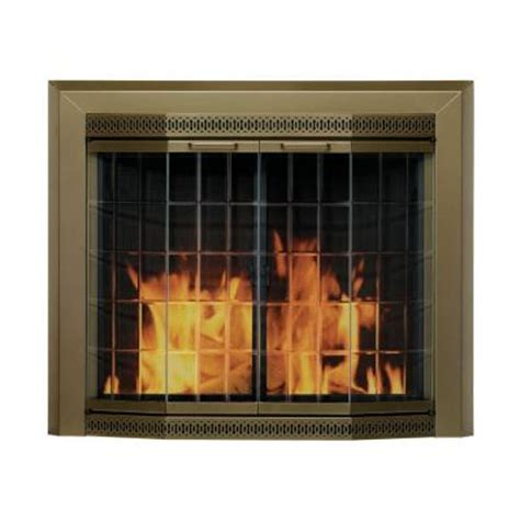 home depot fireplace doors pleasant hearth grandior bay small glass fireplace doors