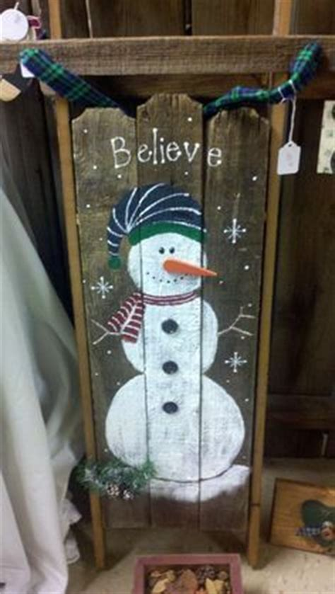 painted sleds images  pinterest christmas