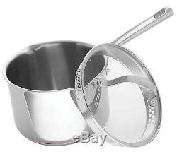 emeril lagasse  piece copper core stainless steel induction safe cookware set