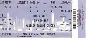 Billy joel msg april 24 2006 for Billy joel madison square garden tickets