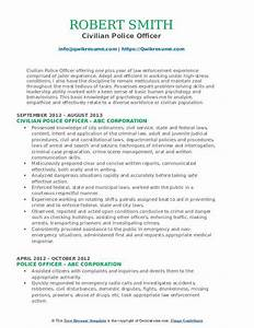 Build A Resume For Free And Download Police Officer Resume Samples Qwikresume