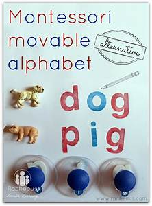 montessori movable alphabet alternative alternative to With sign with movable letters