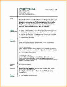 functional resume for highschool students 10 good resume sle for college student invoice template download