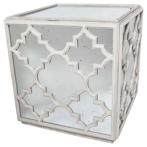 mirrored cube end table mirrored cube coffee or end table for sale at 1stdibs