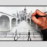 one-point-perspective-bridge-drawing