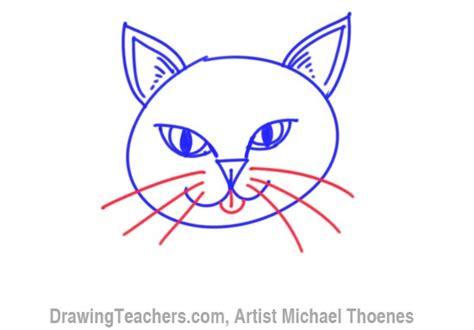 draw  cartoon cat face