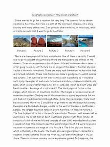 dream vacation essay
