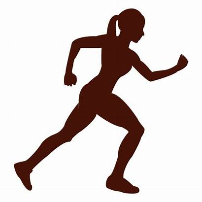 Corriendo Silueta Mujer Transparent Running Mulher Clipart