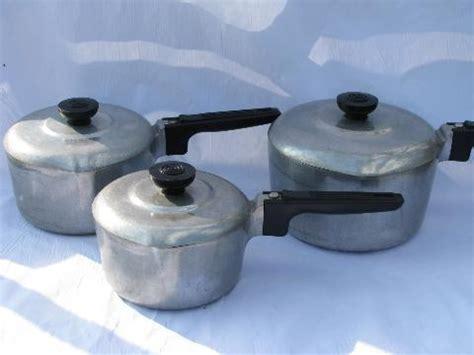 vintage magnalite aluminum cookware wagner ware pots pans set