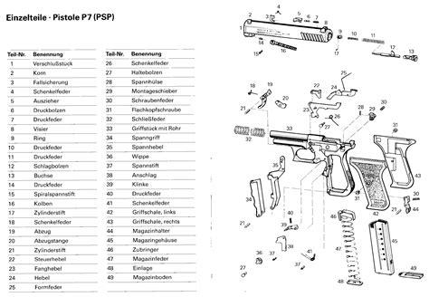 ersatzteile heckler koch p psp collector gunparts
