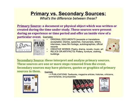 Sles Of Primary Skills And Secondary Skills In Resume by Primary Vs Secondary Sources College Readiness Skills And Resources Subject Course Guides