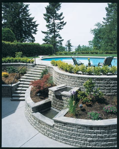 unilock michigan using retaining wall blocks for patio steps in howell mi