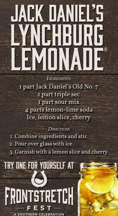 jack daniels lynchburg lemonade thirstythursday recipe