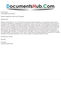 resignation letter due  marriage format