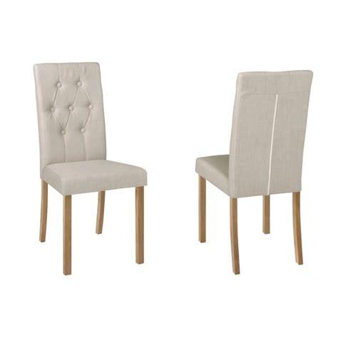 lot de chaise salle a manger lot de 2 chaises salle à manger karisma en tissu l achat