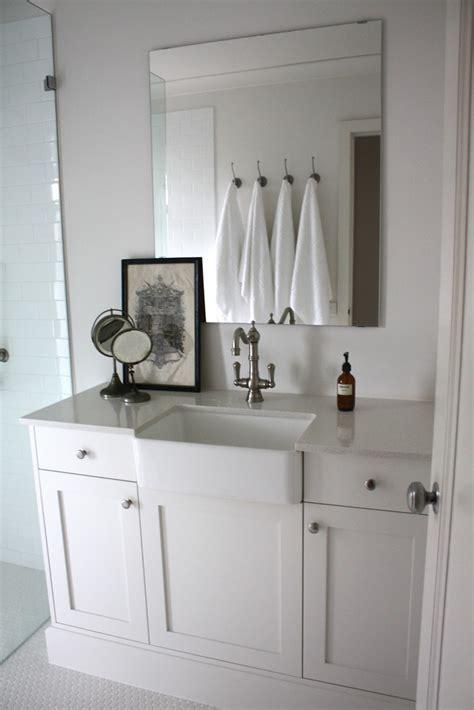 Farm Style Bathroom Sink by Farmhouse Sink In A Bathroom Bathroom Inspiration