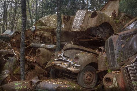 car graveyard explore  vast car graveyard