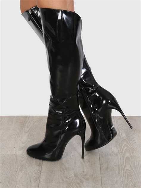 gucci shine leather  knee high heel boots  luxury bags