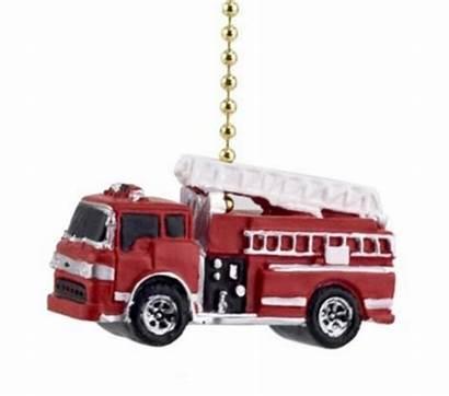Fire Truck Fan Ceiling Pull Yellow Cord