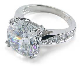 4 carat engagement rings winston 4 carat cubic zirconia pave cathedral solitaire engagement ring