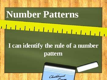 number patterns powerpoint  ciera harris teaching tpt