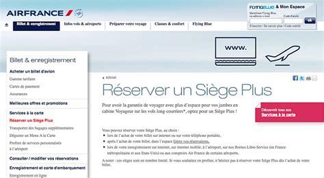 reservation siege airlines air propose désormais siège plus aux agences de