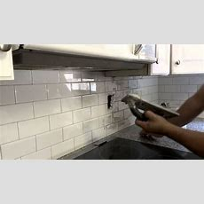 Grout Application On A Kitchen Backsplash  Youtube