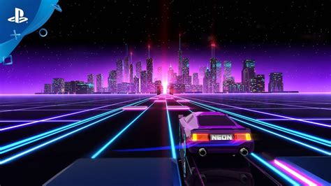 neon drive announce trailer ps youtube