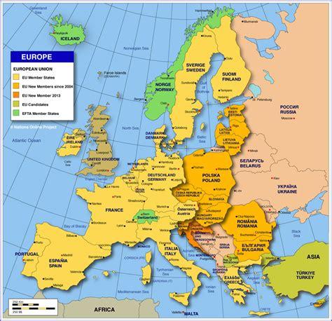 map  europe member states   eu nations