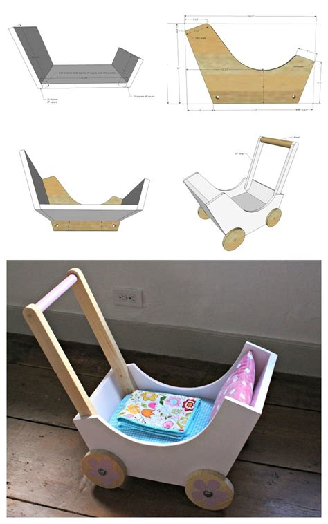 ana white wood doll pram  stroller diy projects