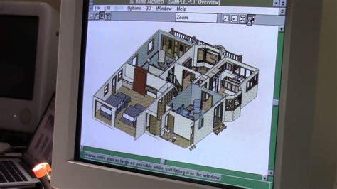 broderbund 3d home architect for windows 3 1 youtube