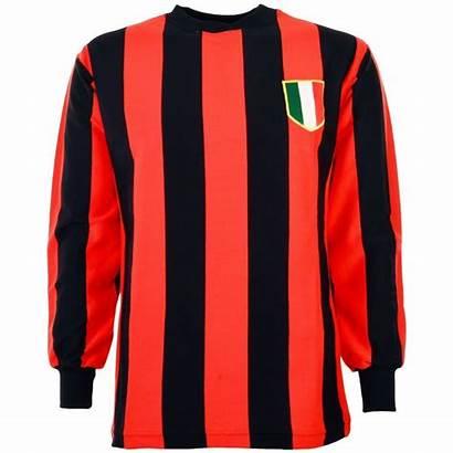Milan Retro 1960 Football 1950 Toffs Voetbalshirt