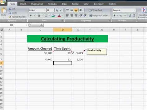 productivity  efficiency calculations  difference