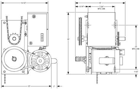 Genie Model 450 Wiring Diagram by Power Master Overhead Door Operator J Model